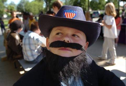 Mustached President