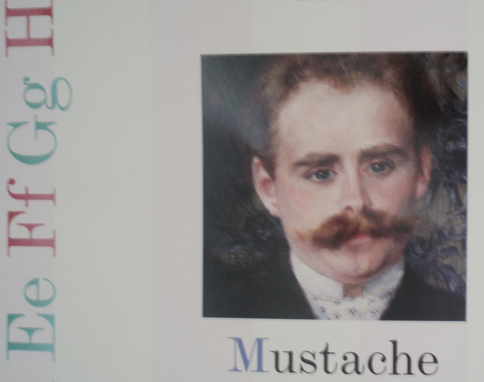 M is for Mustache