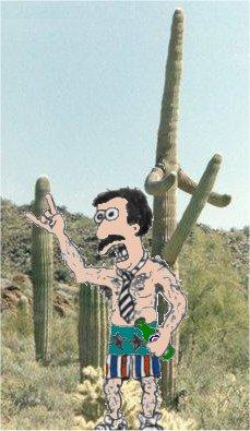 Ron in the desert